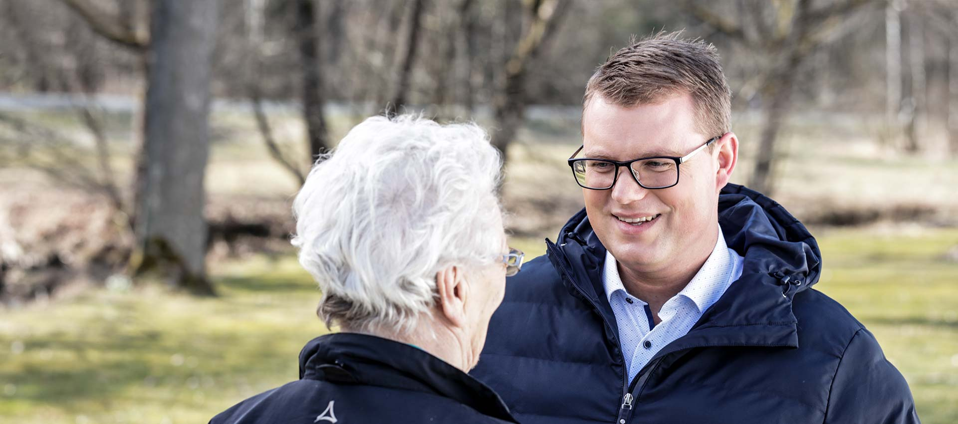 Holger Grießhammer im Gespräch mit Bürgern